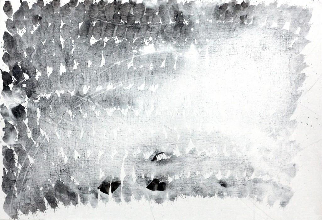 contemporary art paintings by mojgan moslehi and michel sicard, Sans titre, technique mixte, 89 x 116 cm, 2013