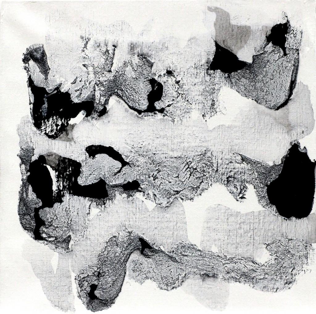 contemporary art paintings by mojgan moslehi and michel sicard, Sans titre, technique mixte, 60 x 60 cm, 2013