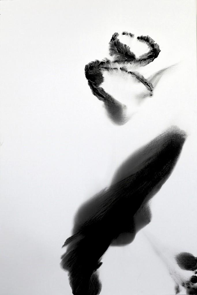 contemporary art paintings by mojgan moslehi and michel sicard, Sans titre,technique mixte sur toile, 210 x 140 cm