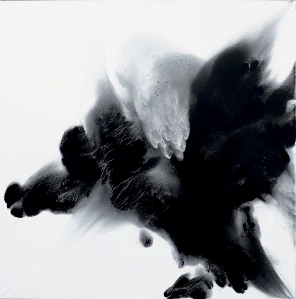 contemporary art paintings by mojgan moslehi and michel sicard, Sans titre, technique mixte, 200 x 200 cm, 2012