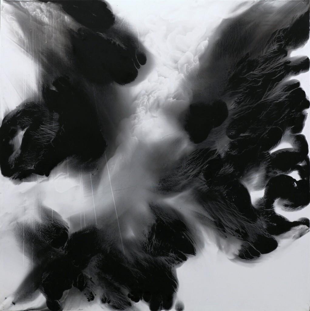 contemporary art paintings by mojgan moslehi and michel sicard, Sans titre, technique mixte, 200 x 200 cm, 2012sicard-moslehi