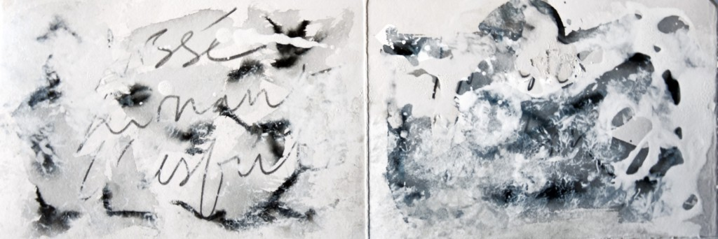 Nuit mon silence, technique mixte, 2006